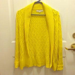 Bright yellow Loft sweater